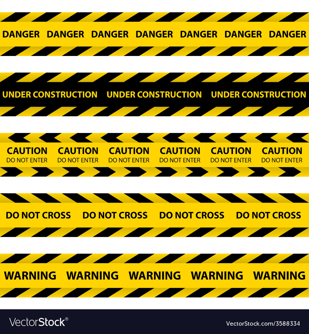Set of yellow barrier tapes vector | Price: 1 Credit (USD $1)