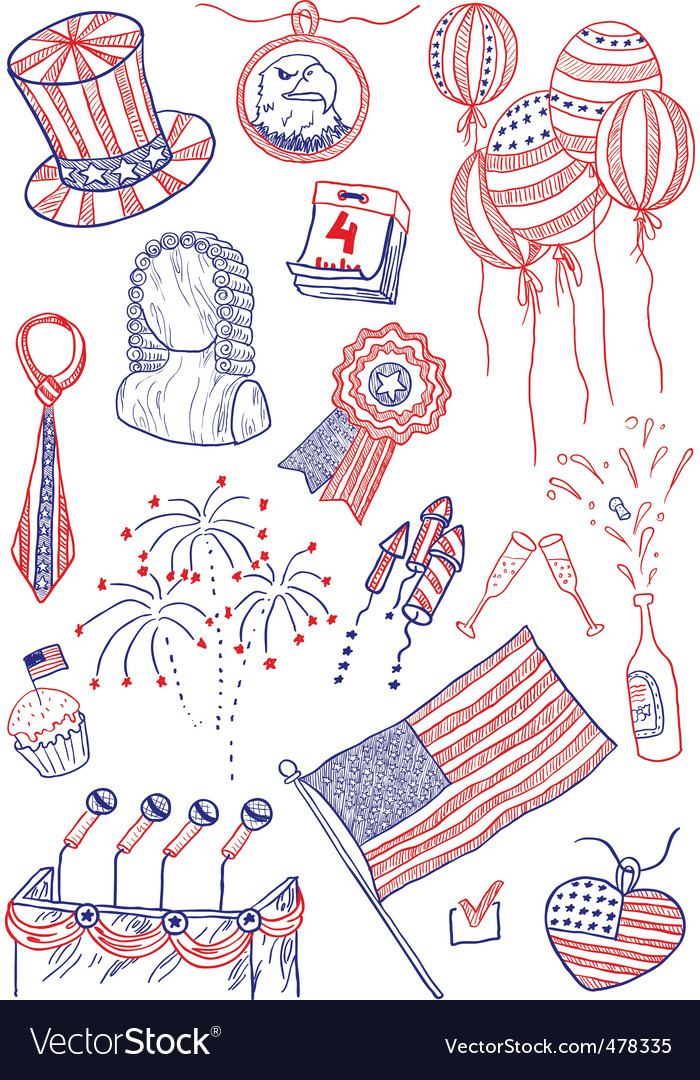 America doodles vector | Price: 1 Credit (USD $1)