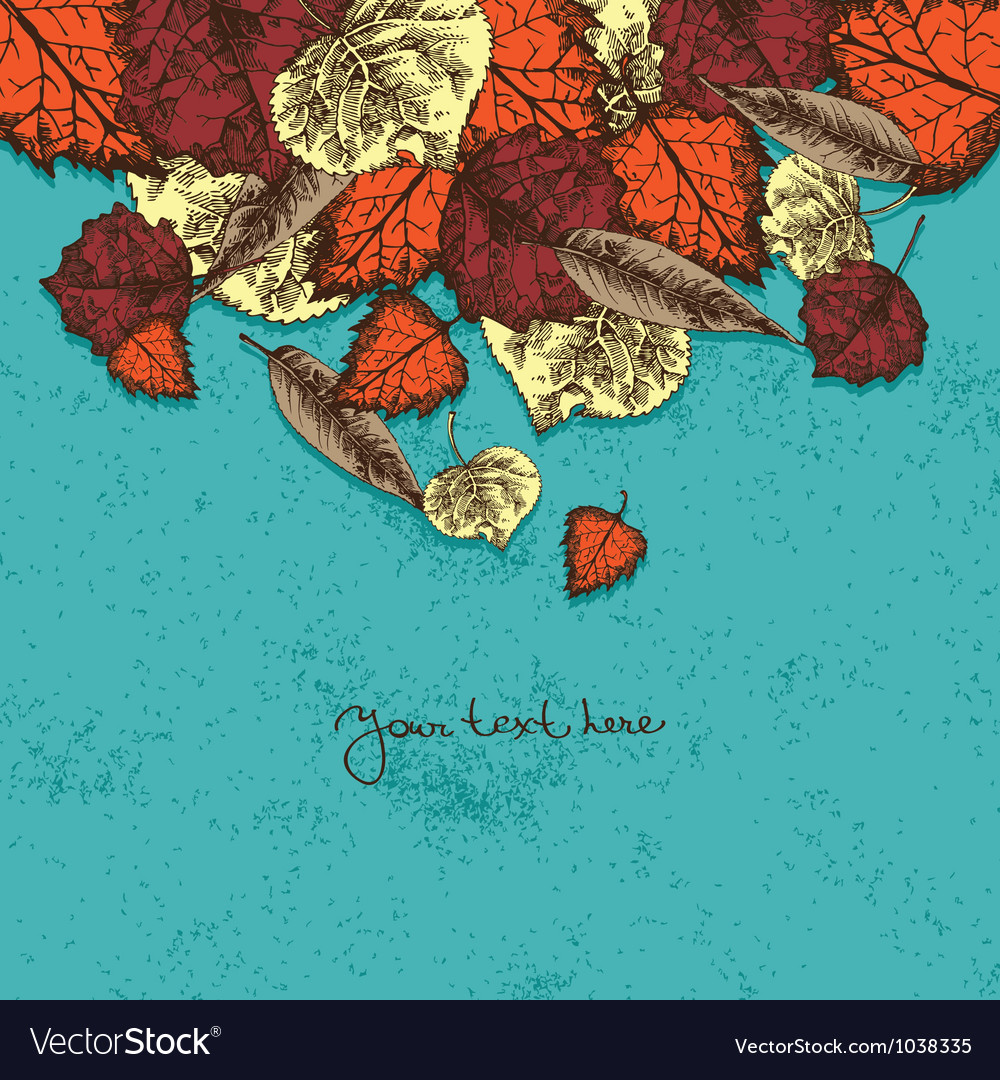 Autumn background with leafs vector | Price: 1 Credit (USD $1)