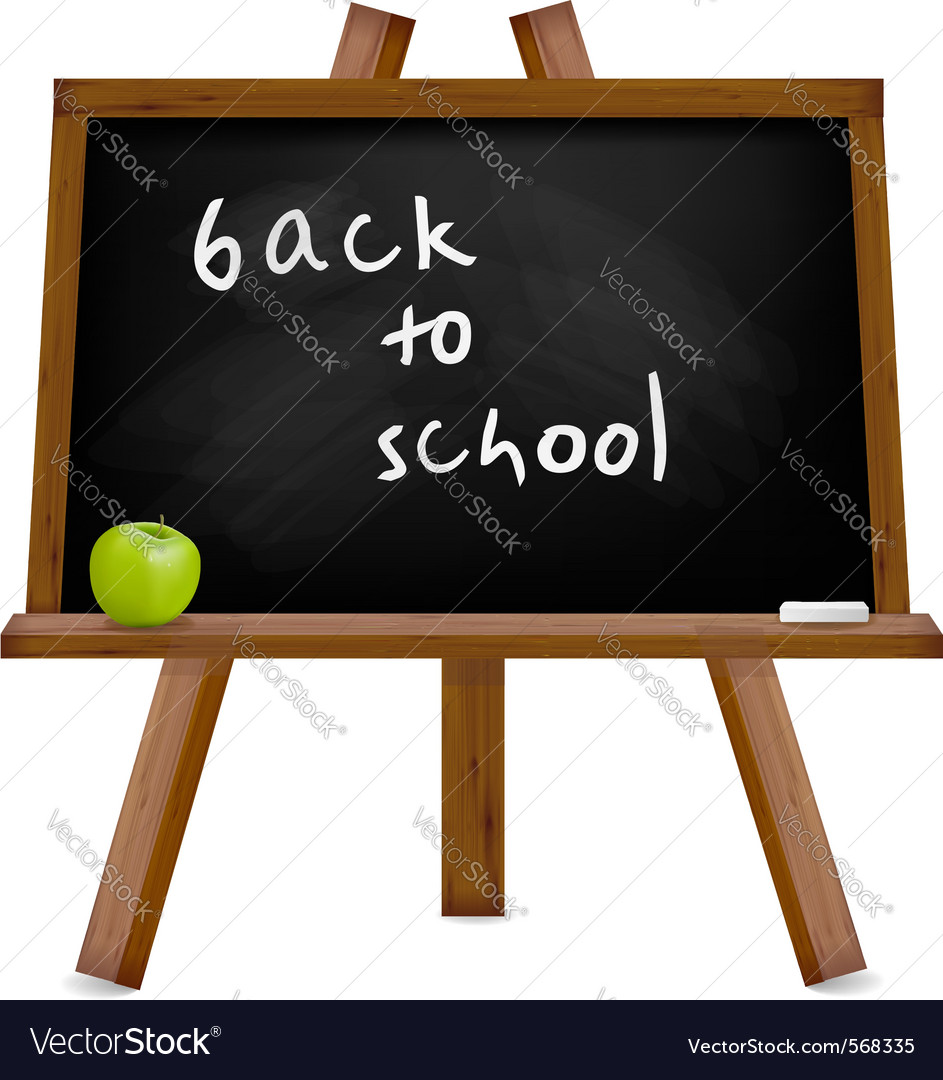 Blackboard with easel with text vector | Price: 1 Credit (USD $1)