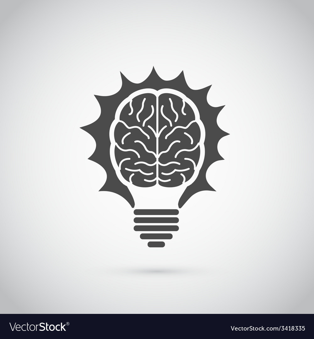 Brain bulb vector | Price: 1 Credit (USD $1)