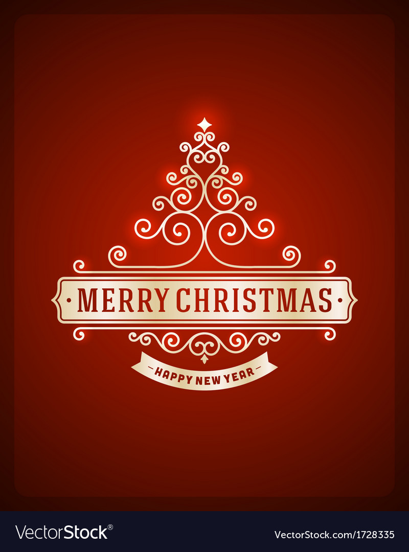 Christmas tree from flourishes calligraphic backgr vector | Price: 1 Credit (USD $1)
