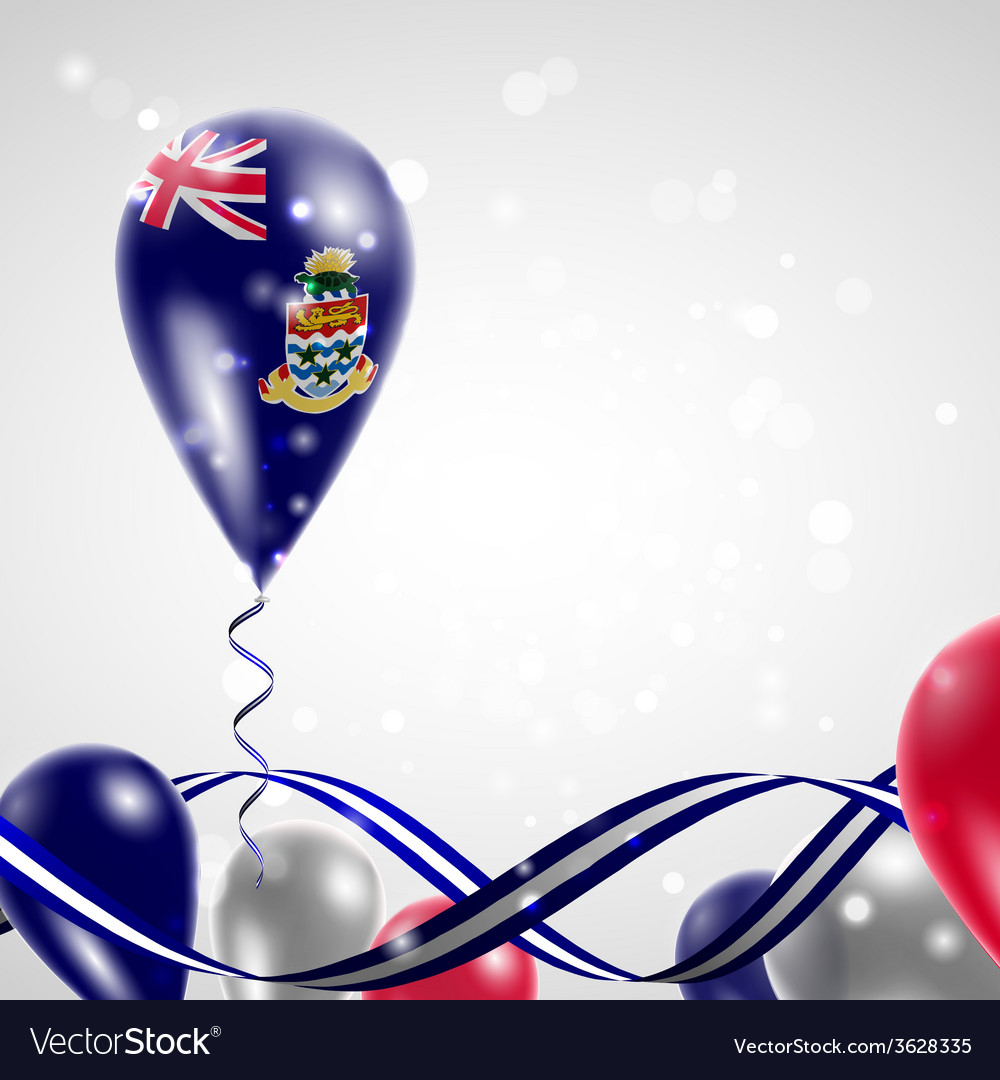 Flag of the cayman islands on balloon vector | Price: 1 Credit (USD $1)