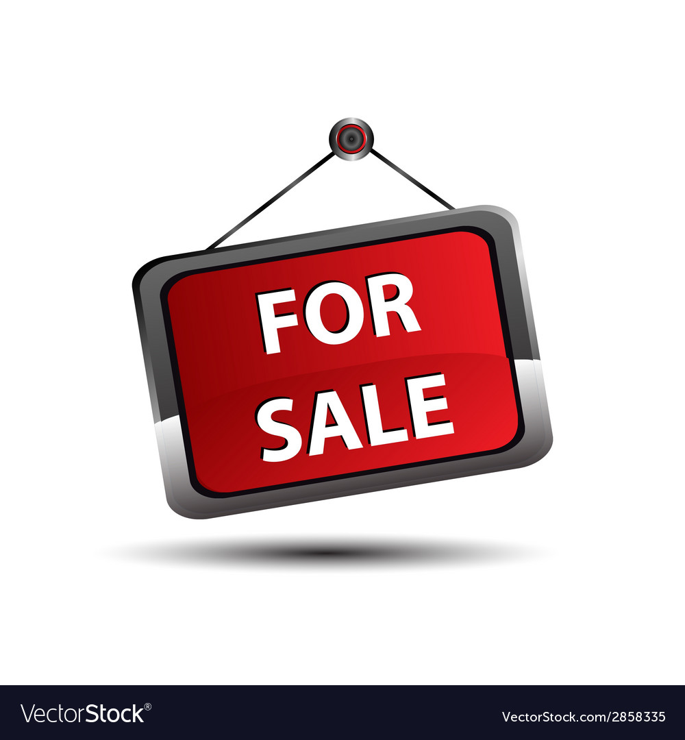 For sale icon banner selling a house apartment or vector | Price: 1 Credit (USD $1)