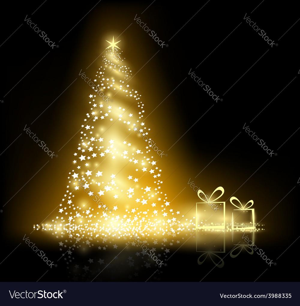 Glowing christmas tree vector   Price: 1 Credit (USD $1)