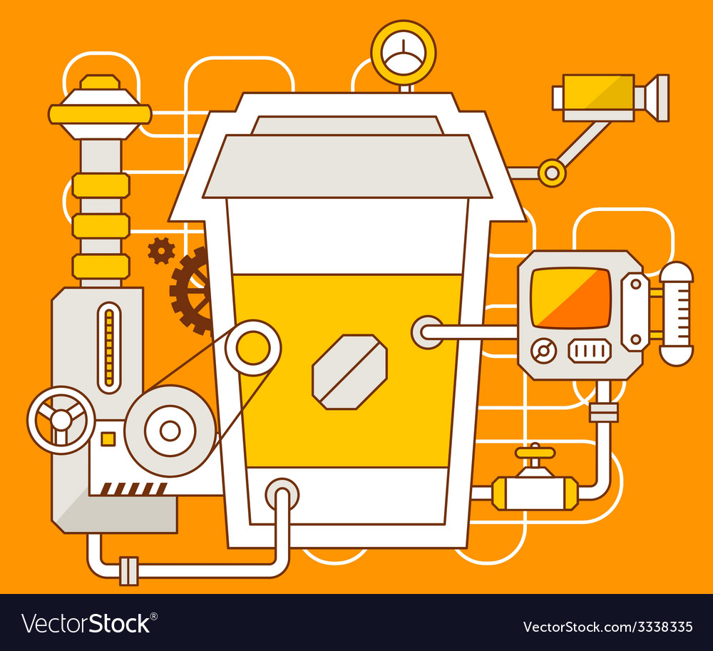 Industrial of the mechanism of coffee vector | Price: 3 Credit (USD $3)