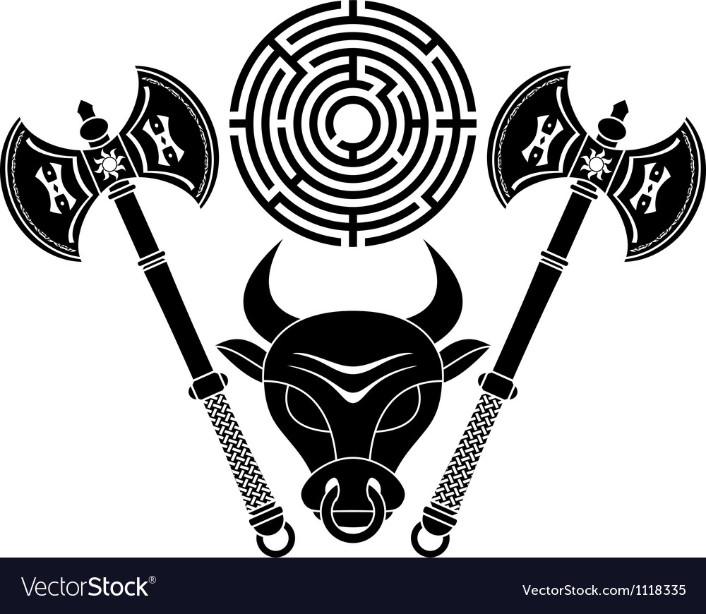 Minotaur stencil second variant vector | Price: 1 Credit (USD $1)
