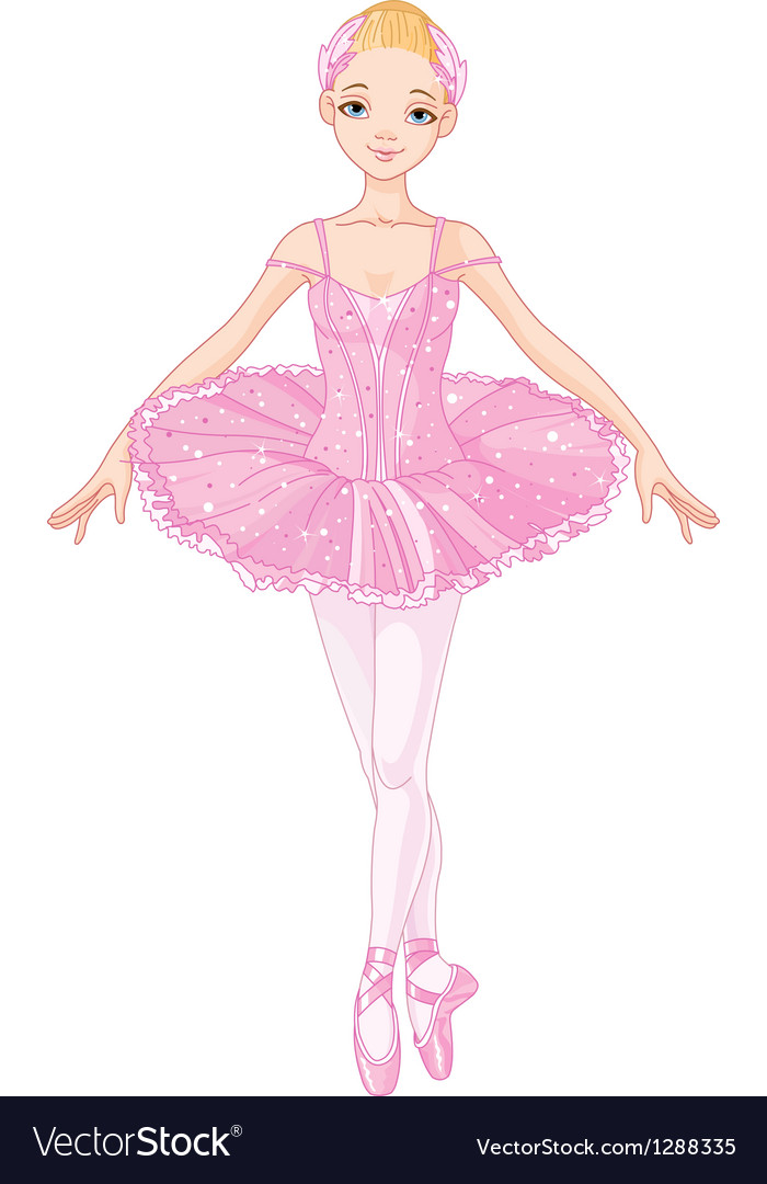 Pink ballerina vector | Price: 3 Credit (USD $3)