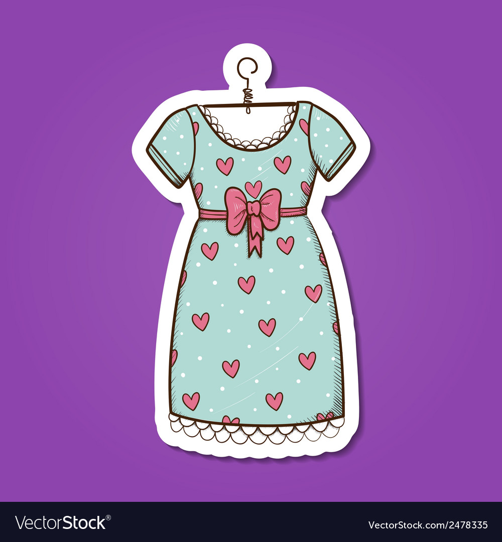 Pretty dress vector | Price: 1 Credit (USD $1)