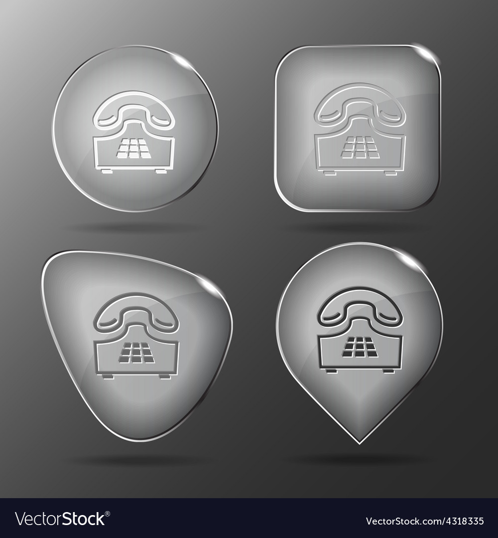 Push-button telephone glass buttons vector | Price: 1 Credit (USD $1)