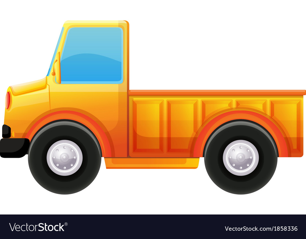 A yellow truck vector | Price: 1 Credit (USD $1)