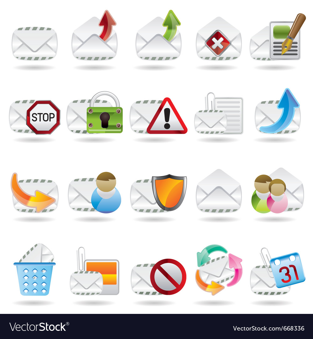 Mail and letter icons vector | Price: 1 Credit (USD $1)