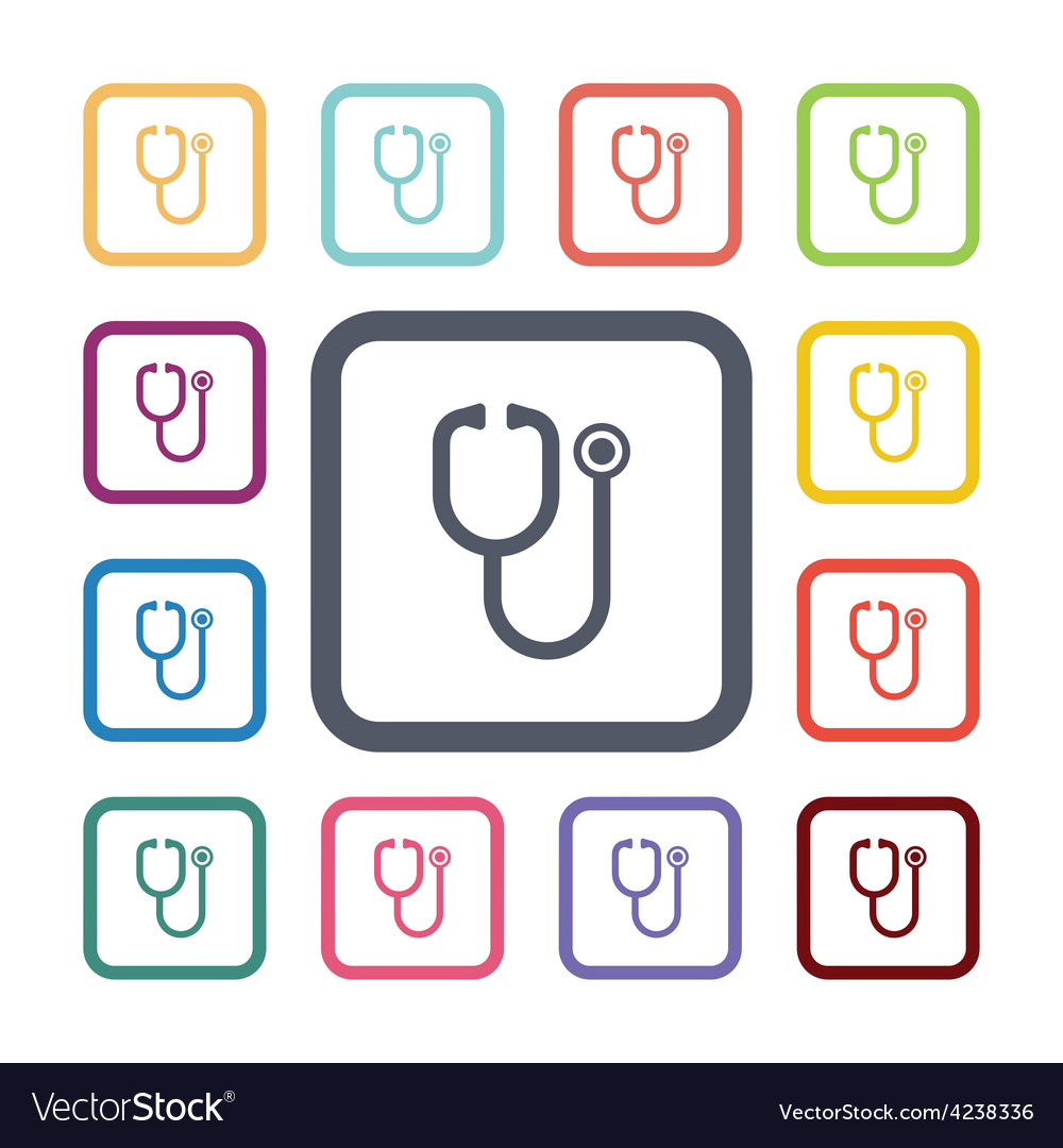 Medical flat icons set vector | Price: 1 Credit (USD $1)