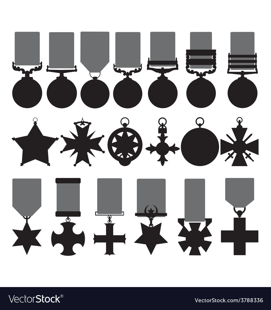 Military medals vector | Price: 1 Credit (USD $1)