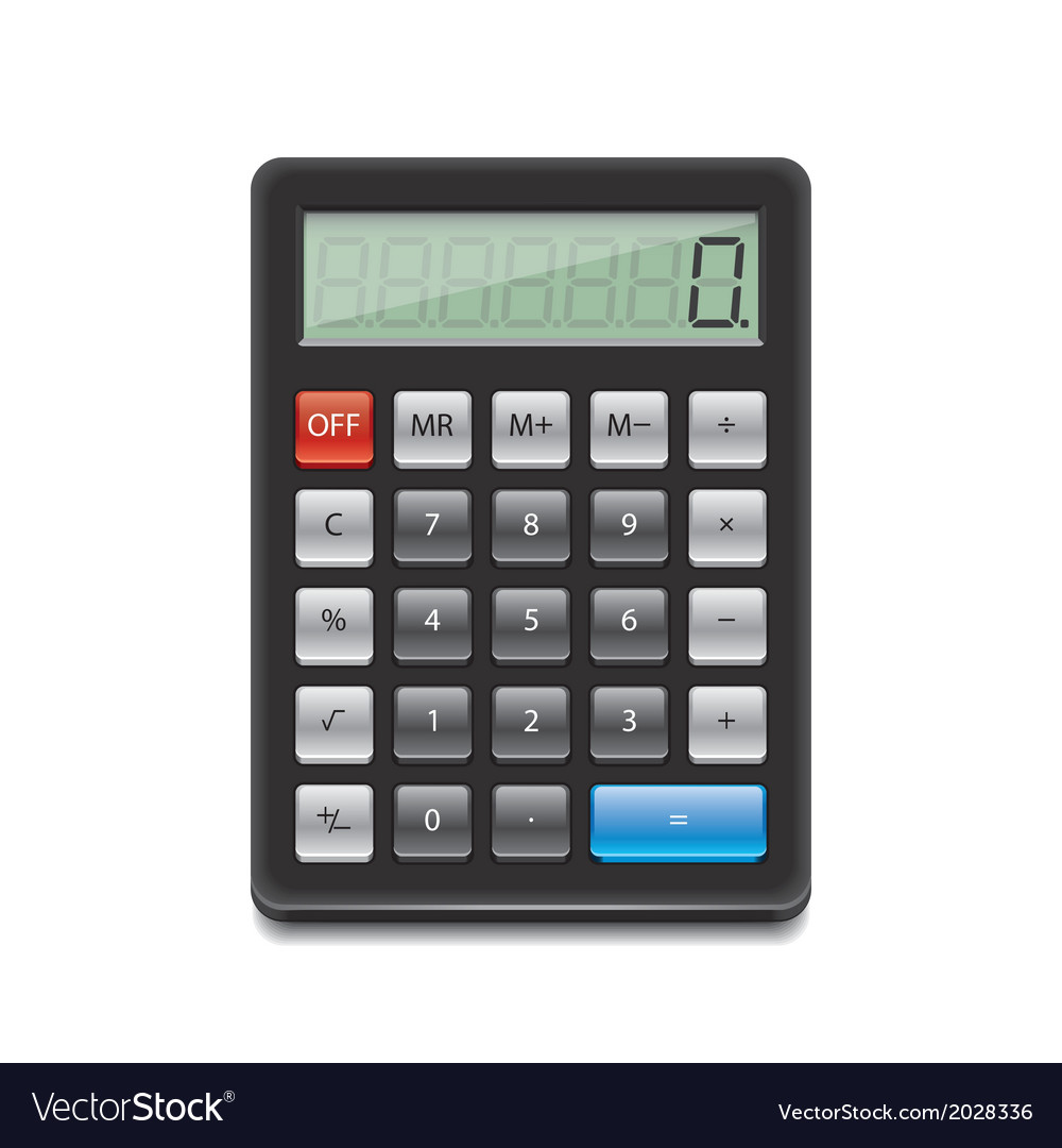 Object calculator vector | Price: 1 Credit (USD $1)