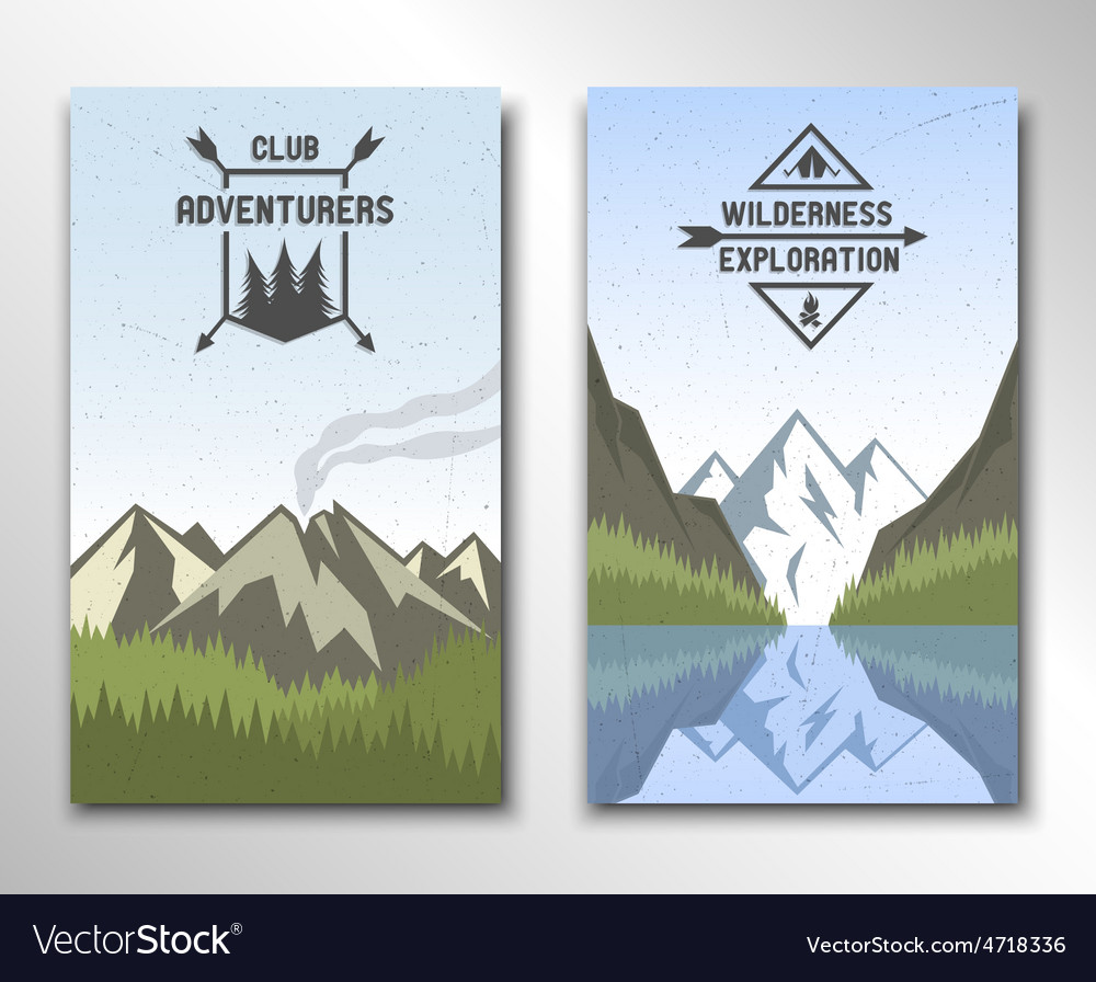 Two banners with the image of nature vector | Price: 3 Credit (USD $3)