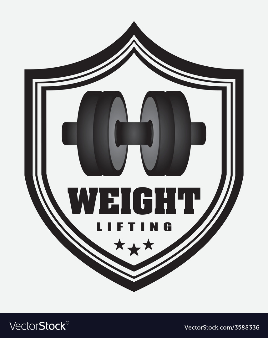 Weight lifting vector | Price: 1 Credit (USD $1)