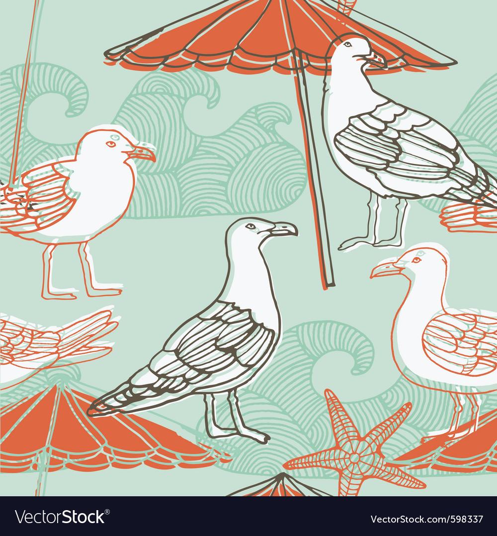 Bird collage background vector | Price: 1 Credit (USD $1)