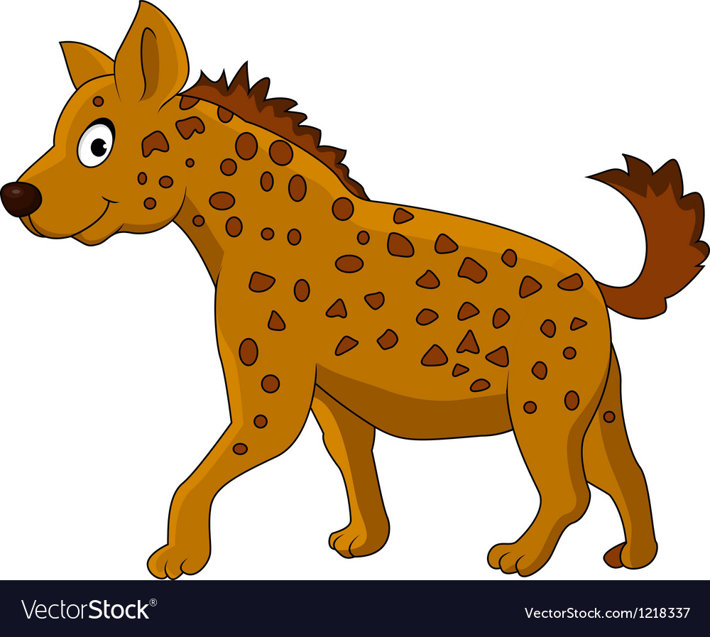 Cute hyena cartoon vector | Price: 1 Credit (USD $1)