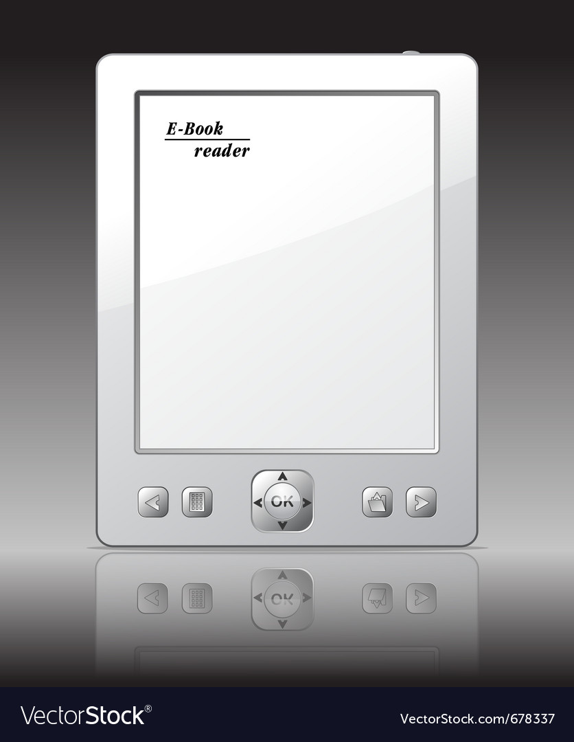 Ebook reader vector | Price: 1 Credit (USD $1)