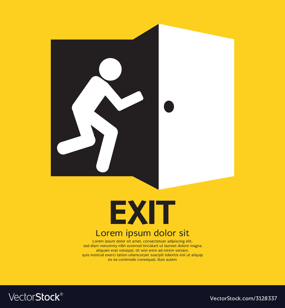 Exit graphic sign vector | Price: 1 Credit (USD $1)