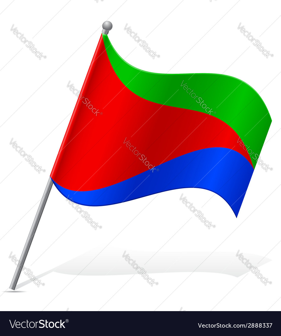 Flag of eritrea vector | Price: 1 Credit (USD $1)