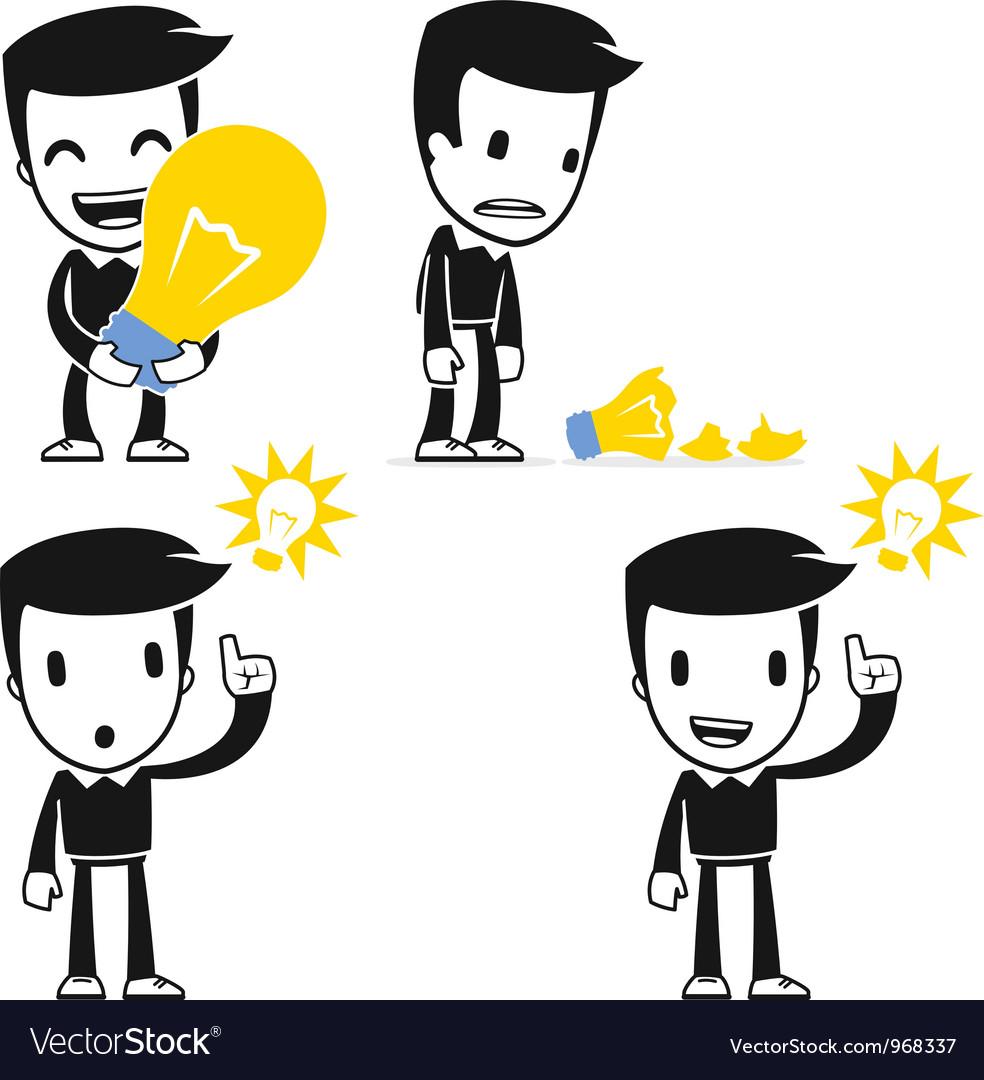 Funny cartoon helper man vector   Price: 1 Credit (USD $1)