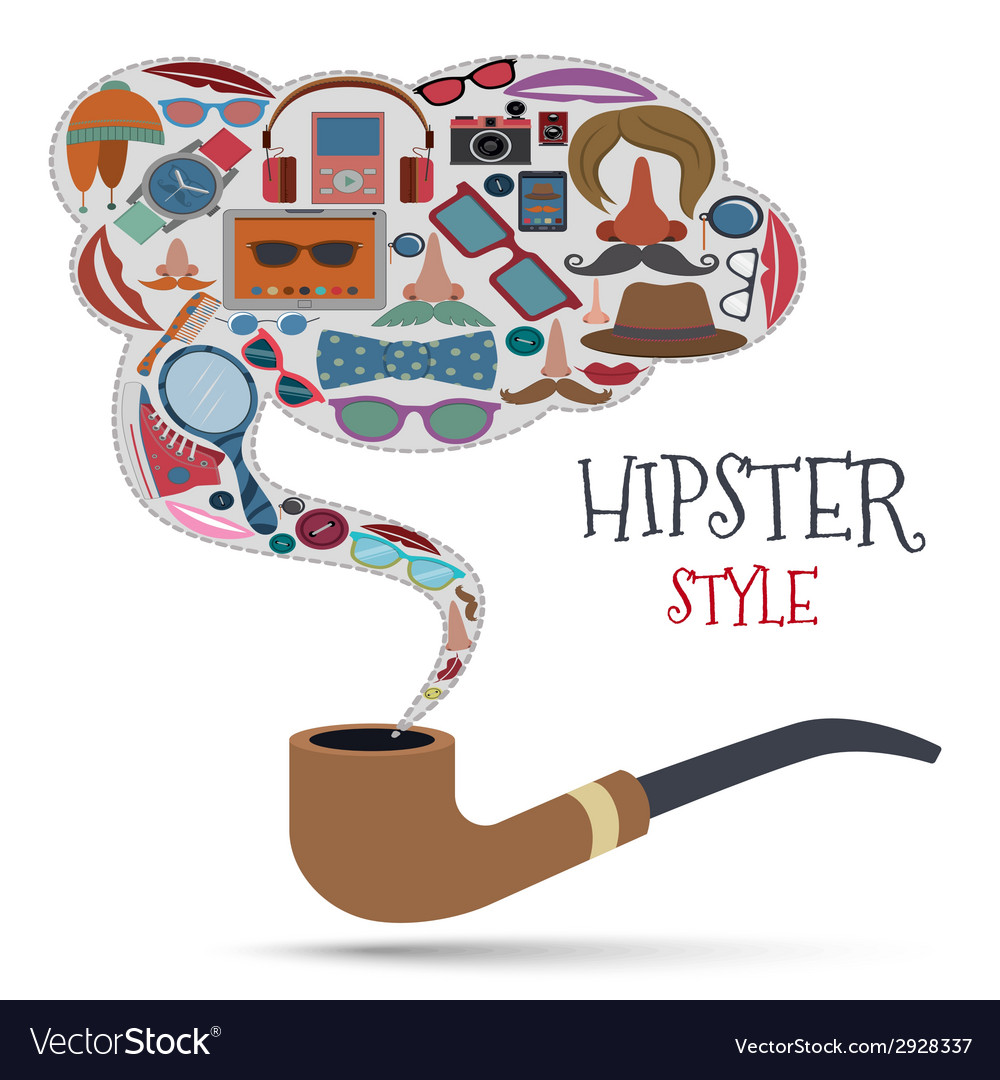 Hipster style concept vector | Price: 1 Credit (USD $1)