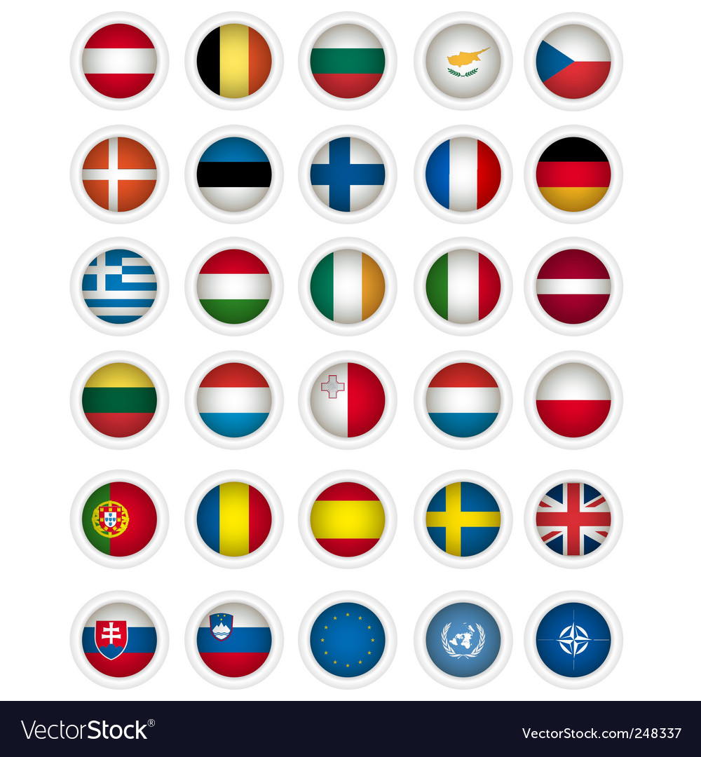 Icons flags vector | Price: 1 Credit (USD $1)