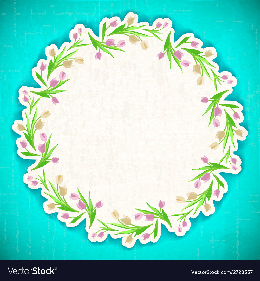 Pattern flower background april web vector | Price: 1 Credit (USD $1)