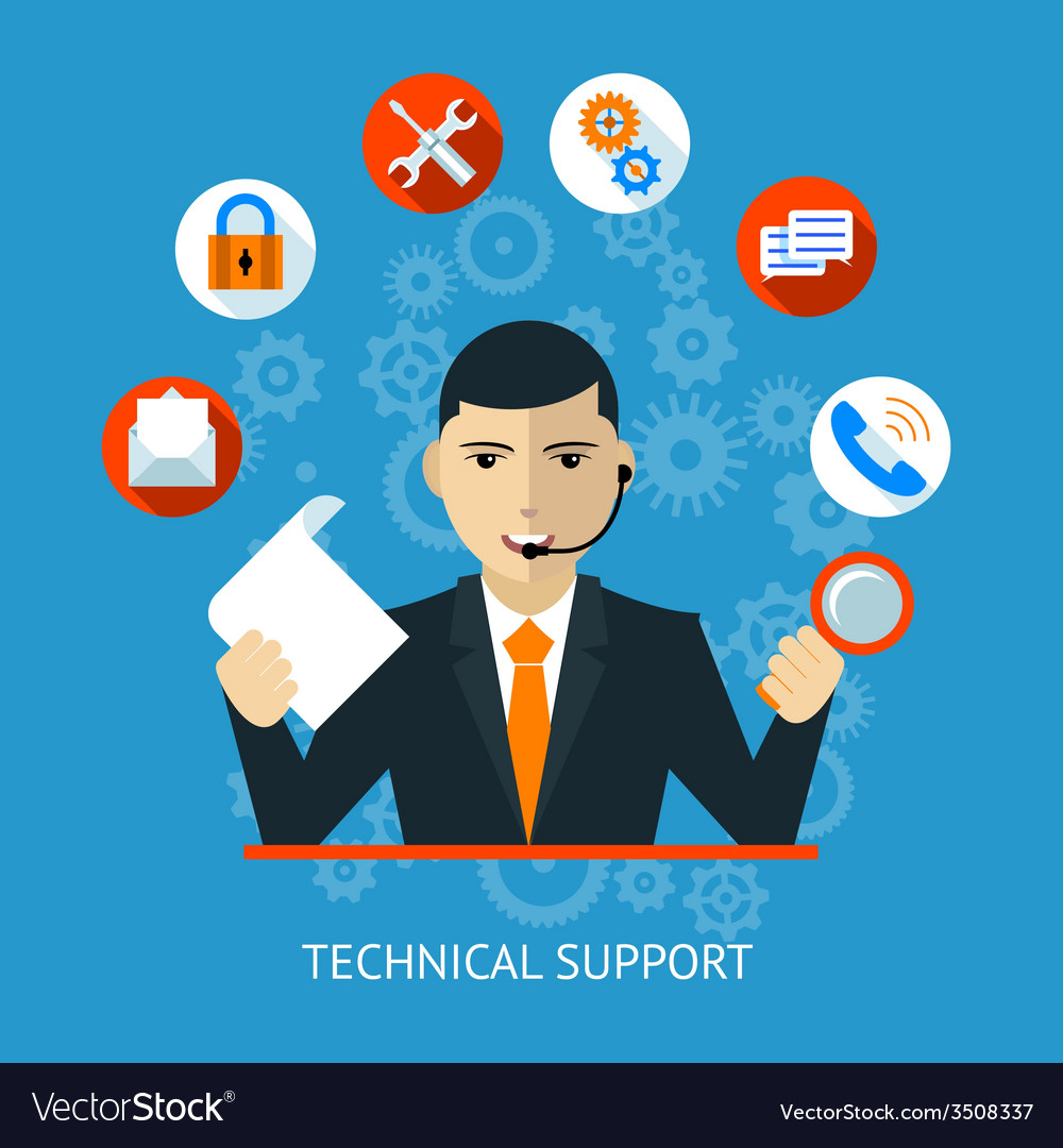 Technical support icon vector | Price: 1 Credit (USD $1)