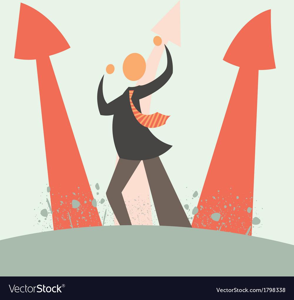 Arrow growth concept vector | Price: 1 Credit (USD $1)