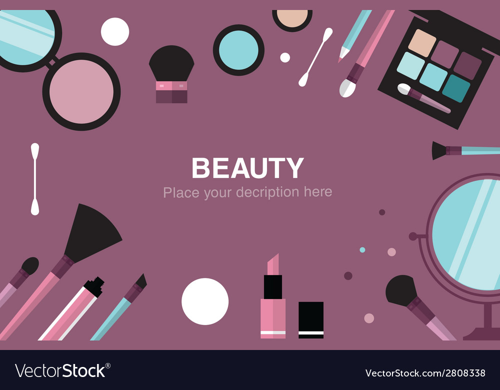 Beauty desk header vector | Price: 1 Credit (USD $1)