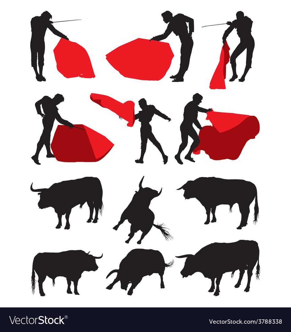 Bullfighting matadors vector | Price: 1 Credit (USD $1)