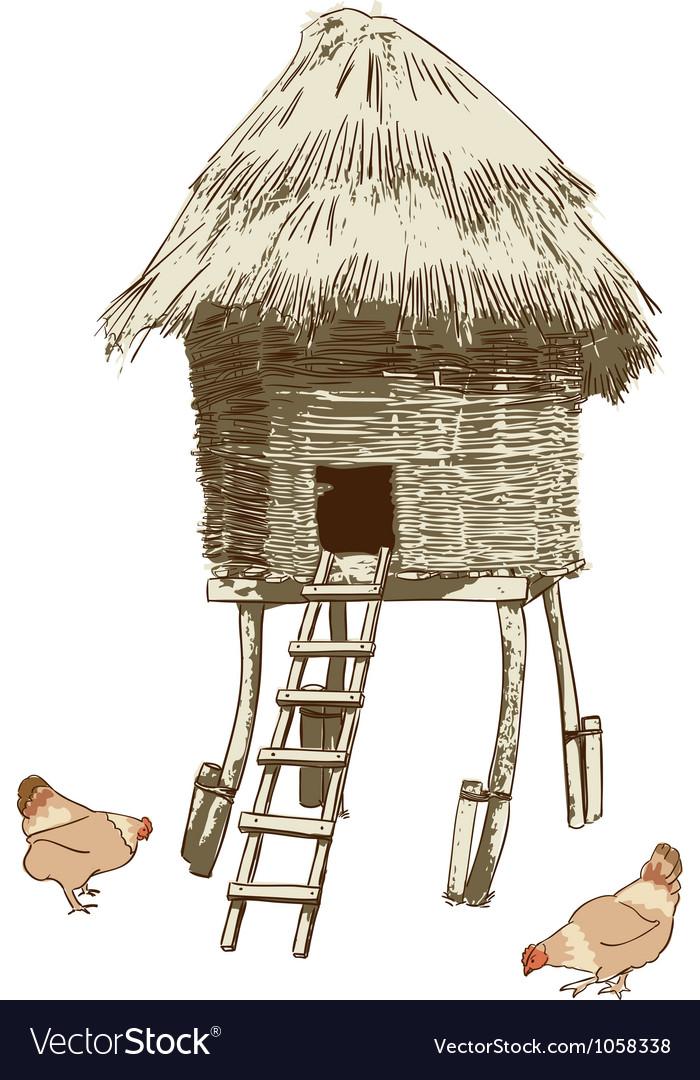 Ethnic village coop vector | Price: 1 Credit (USD $1)