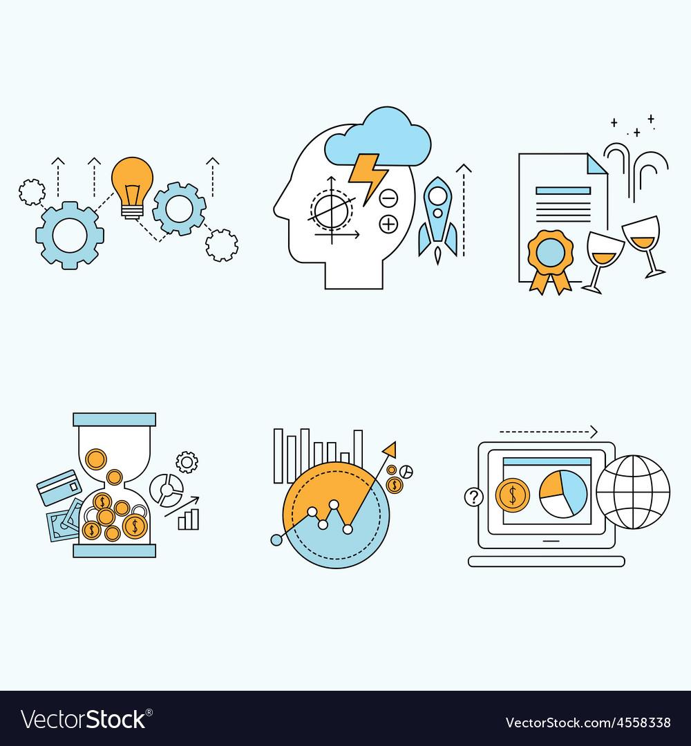 Flat design website development graphic design vector | Price: 1 Credit (USD $1)