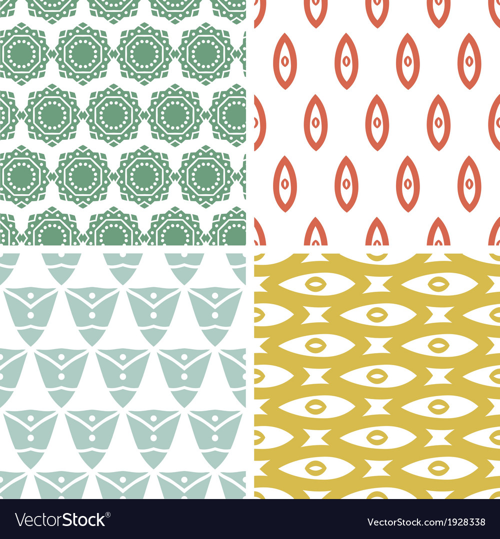 Four tribal shapes abstract geometric patterns and vector | Price: 1 Credit (USD $1)