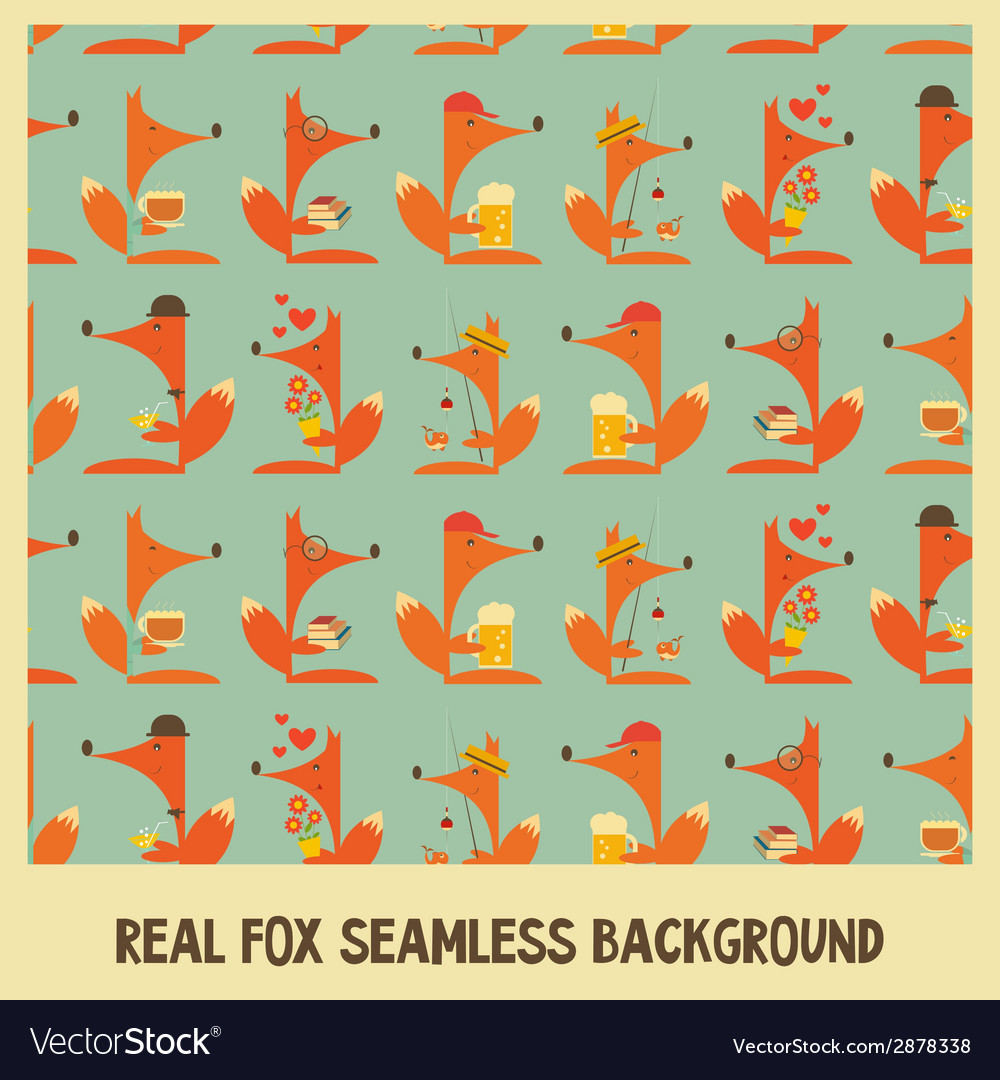 Fox seamless vector | Price: 1 Credit (USD $1)