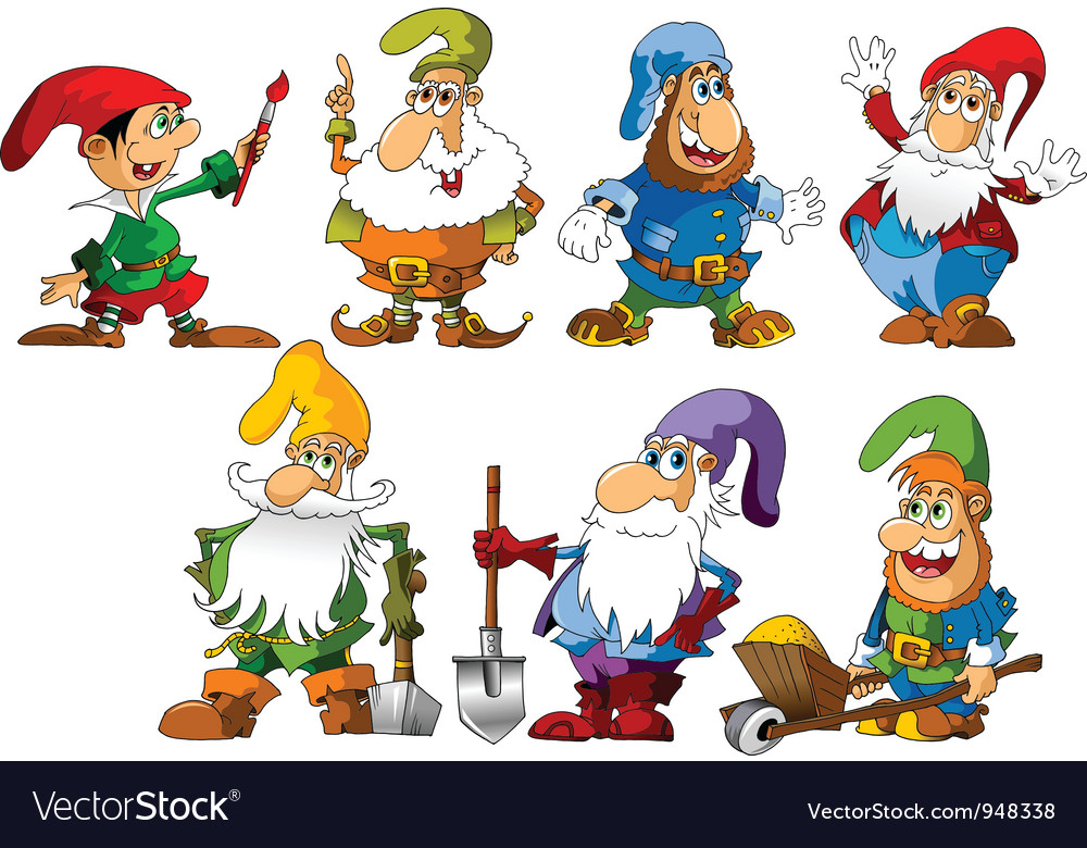 Funny gnomes vector | Price: 1 Credit (USD $1)
