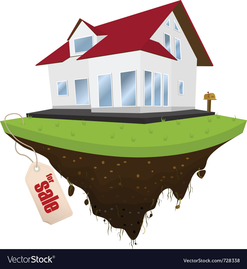 House for sale vector | Price: 3 Credit (USD $3)