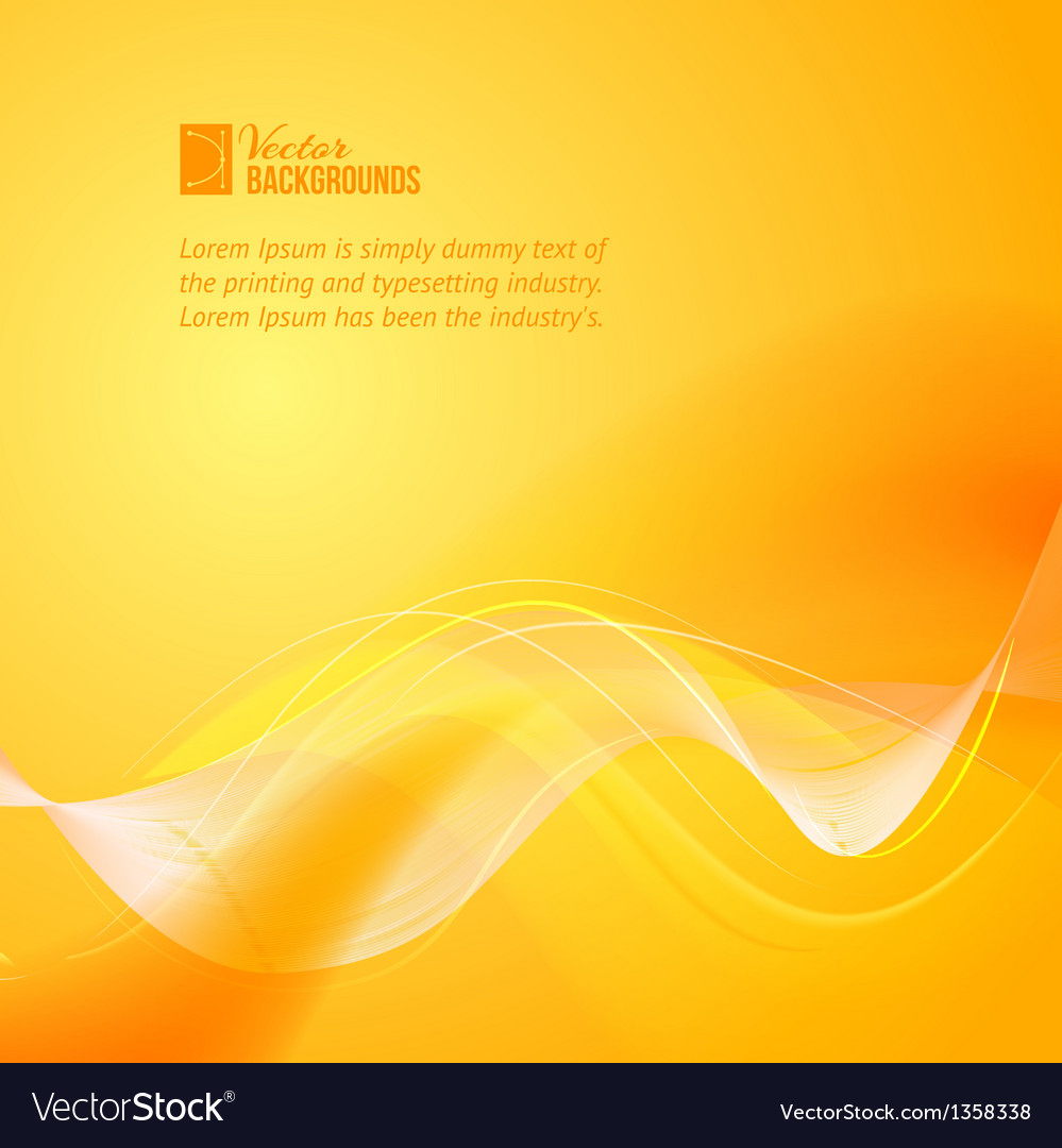 Orange smooth light lines vector | Price: 1 Credit (USD $1)