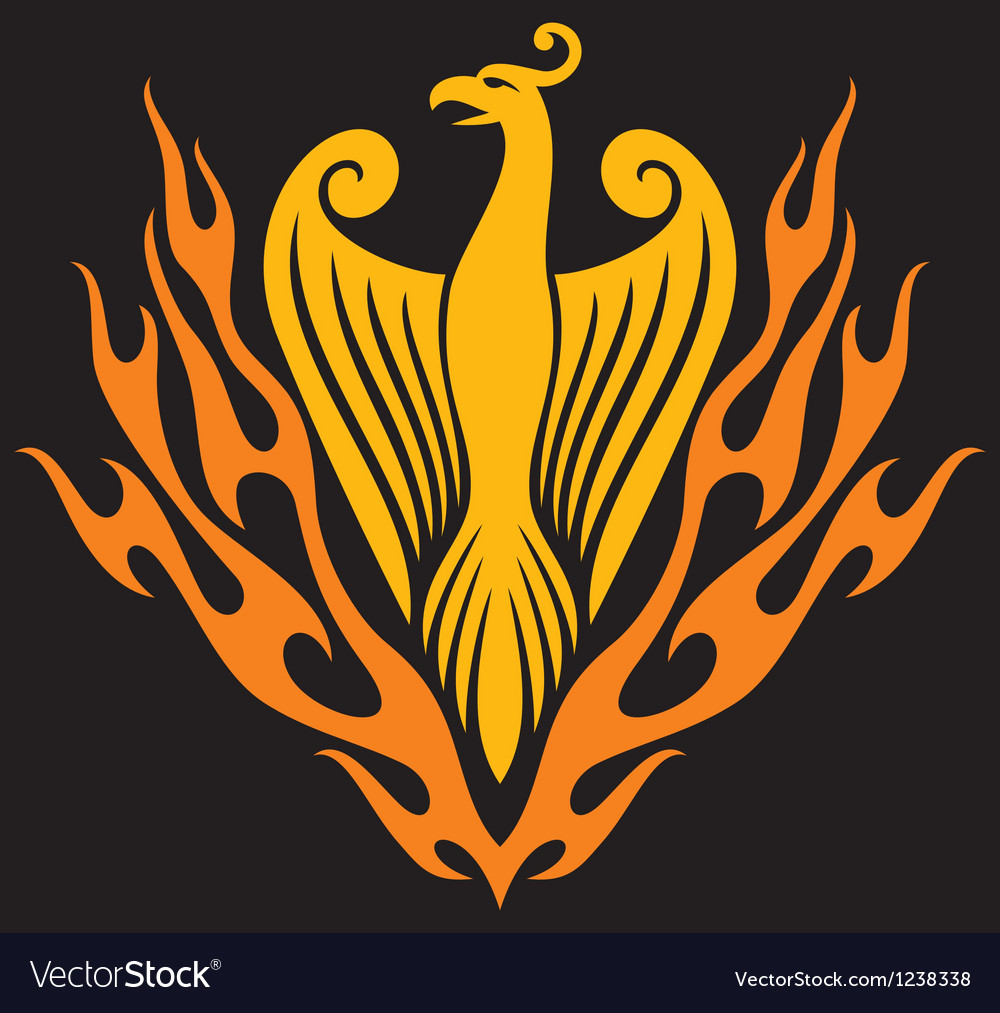 Phoenix bird vector | Price: 1 Credit (USD $1)
