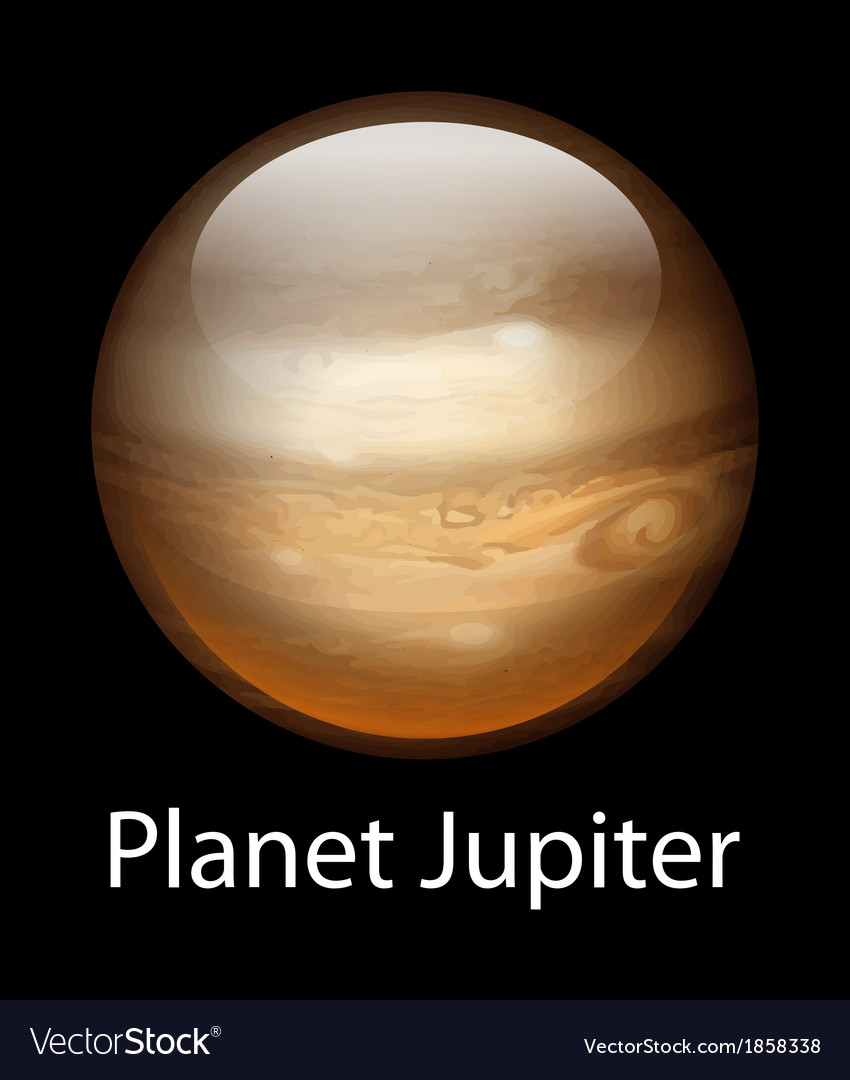 Planet jupiter vector | Price: 1 Credit (USD $1)