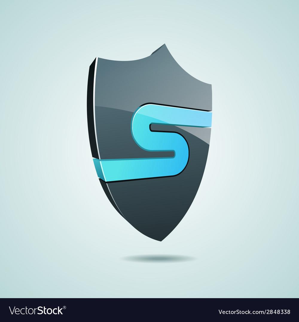 Security shield icon vector | Price: 1 Credit (USD $1)