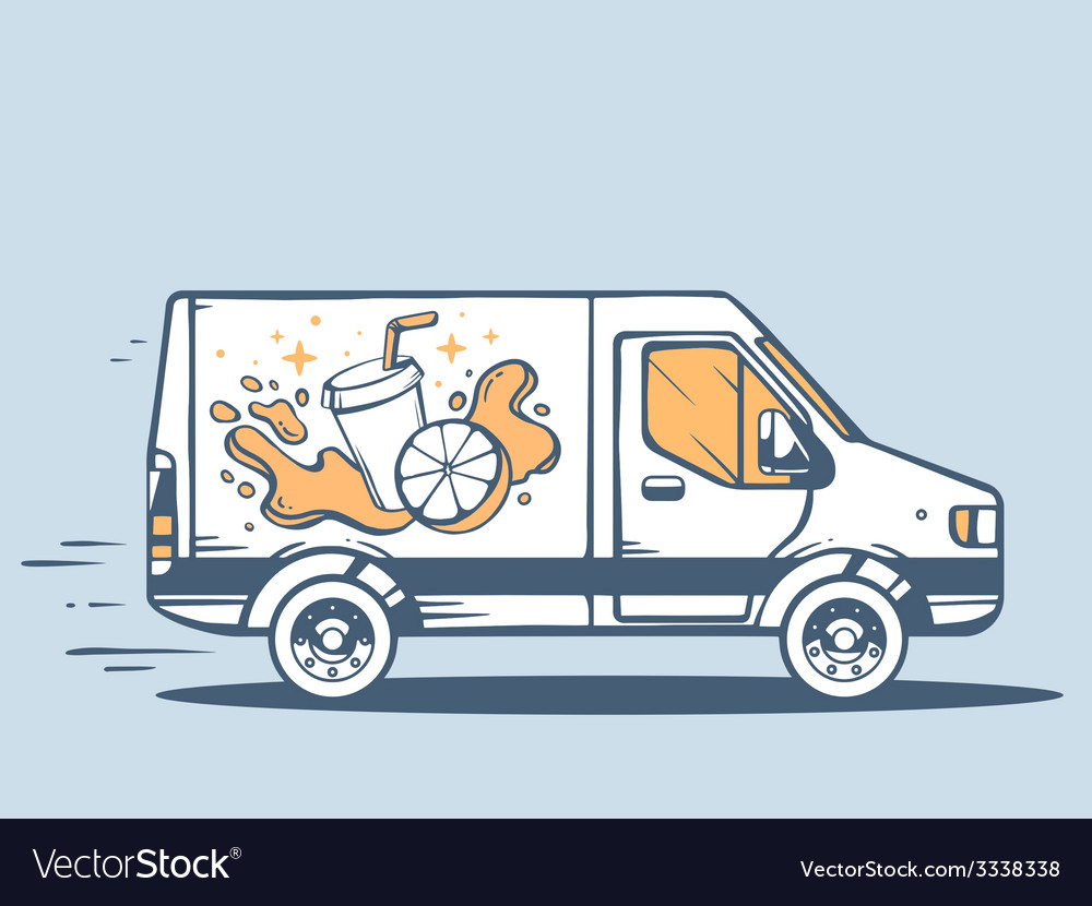 Van free and fast delivering fruit juice vector   Price: 3 Credit (USD $3)