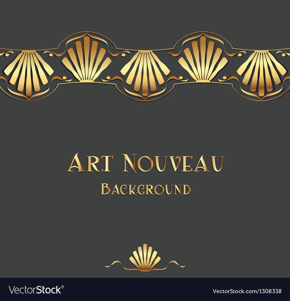 Vintage art nouveau ornament vector | Price: 1 Credit (USD $1)