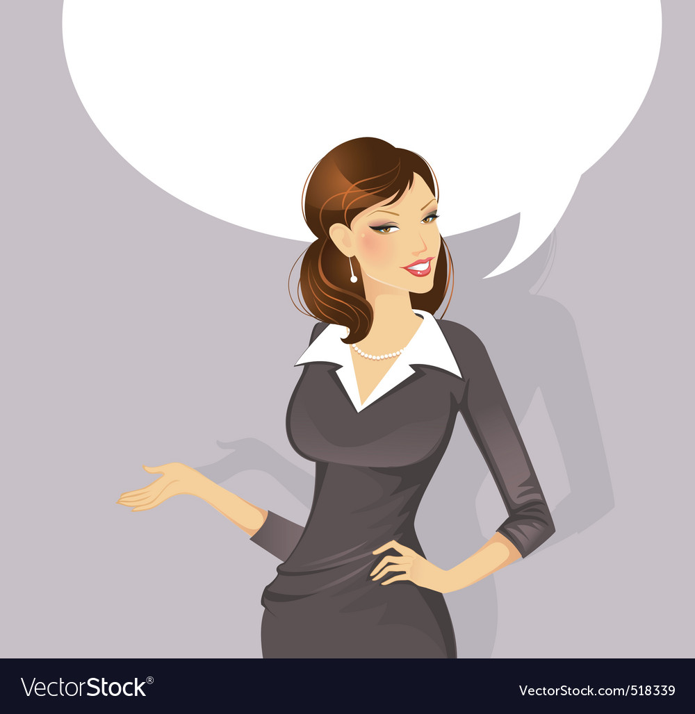 Busineswoman speak vector | Price: 3 Credit (USD $3)