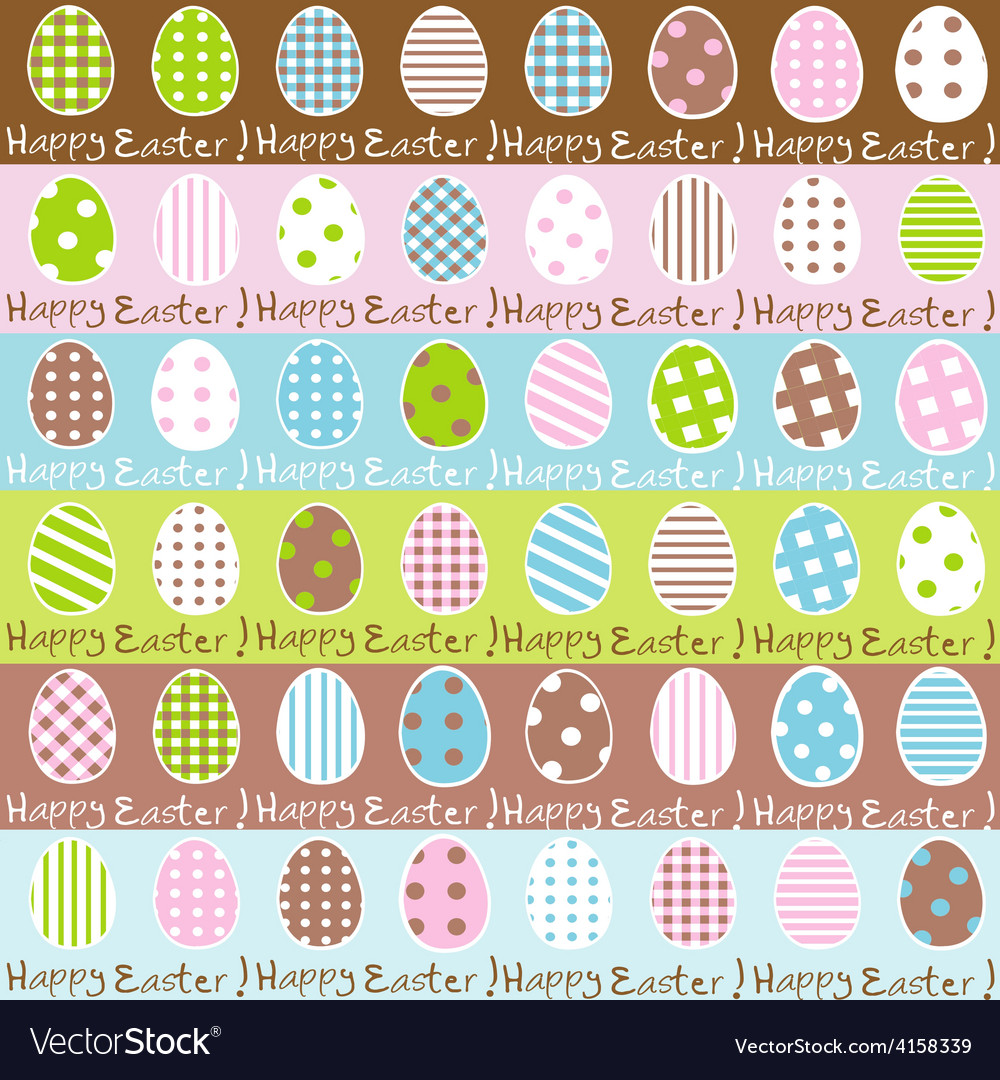Cute easter wrapping paper seamless pattern vector | Price: 1 Credit (USD $1)