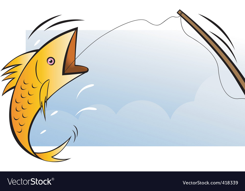 Fish hunting vector | Price: 1 Credit (USD $1)