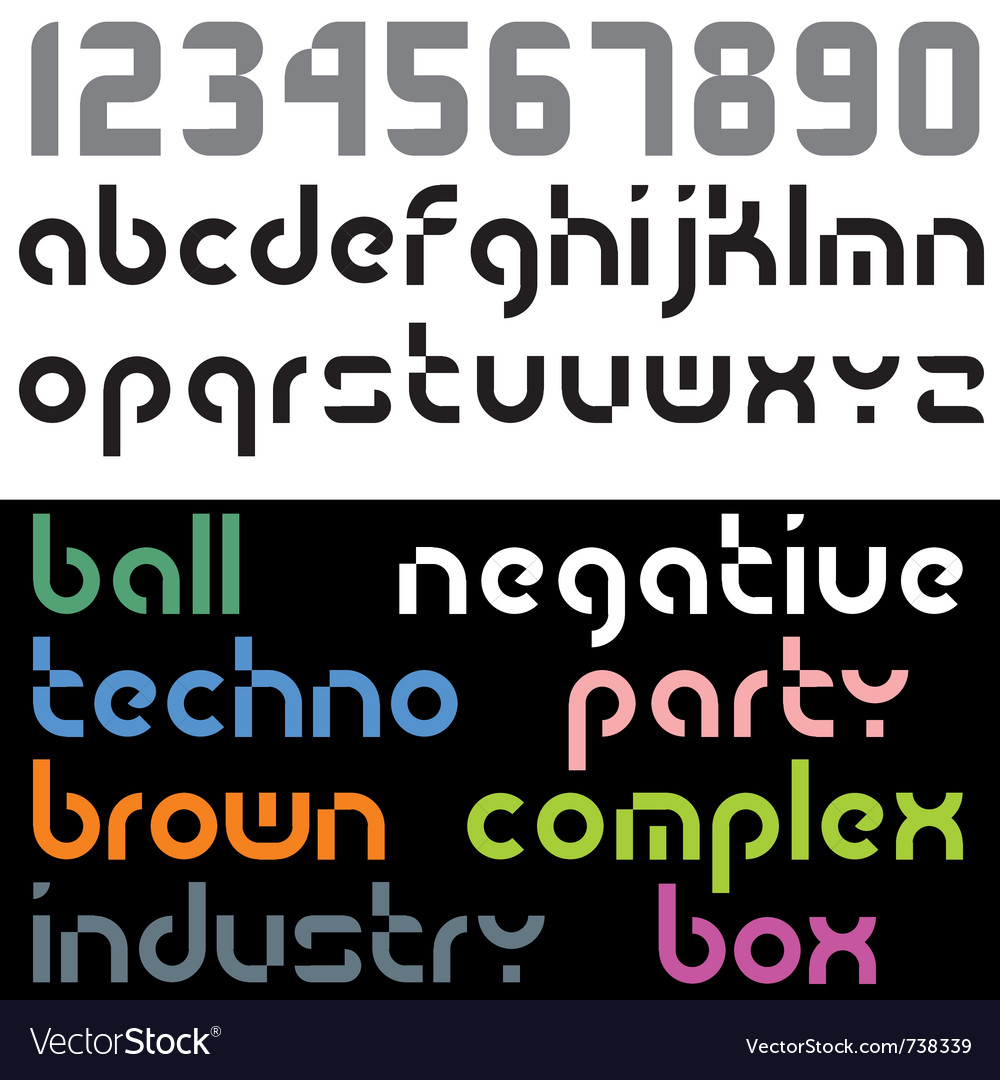 Geometry font vector | Price: 1 Credit (USD $1)